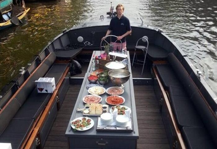 Sloepen lunch | Bootcatering Amsterdam
